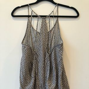 Tops - Gray and white tank top